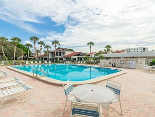 Enjoy beachfront living in the popular community of Aldea Mar, located on Venice