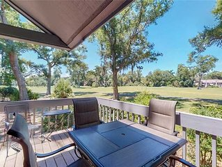 Hilton Head Vacation Rental with Sweeping Fazio Golf Course Views!