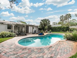 Fully Renovated Beach Home w/ Pool & Walk to Beach
