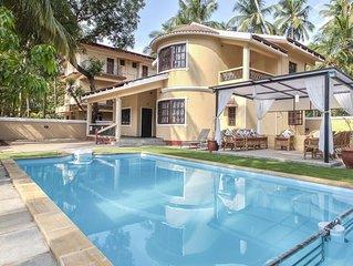 Seas the Day at Villa Calangute Phase 3-Swimming Pool, Kids Pool & Pergola #Goa
