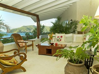 CASSAVA on Bequia. Stunning sea views in relaxed luxury with steps to sand beach