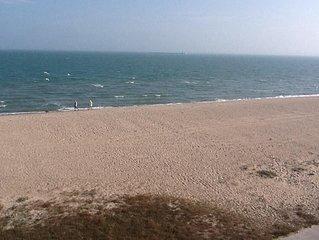 ON THE BEACH HEAR THE WAVES
