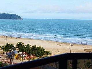 PRAIA GRANDE - Aviação - Apartamento de 3 dormitórios com ampla vista para o mar