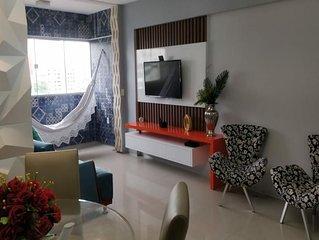 Apartamento completo e climatizado, a 100m do rio mar, 1km da praia do futuro