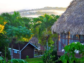 Thatched roof 'standard cabanas'  panorama views CP