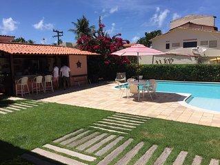 Ampla casa de praia em Tamandare c piscina e grande jardim