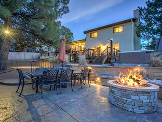 ★ 4BR Peaceful Oasis ★ AF Academy ★ Hot tub, Firepit!
