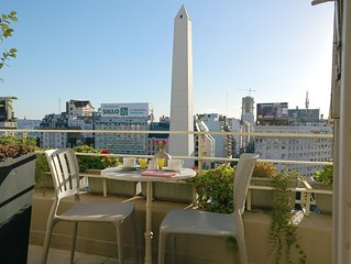 PENTHOUSE with terrace at the Obelisk, incredible open view, modern & chic