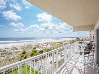 *TONS OF SUN* Beachdrifter 301 Oceanfront south-end w 40ft wrap balcony (+elev).