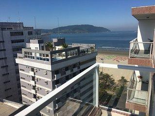 Apto de 90m2, linda vista para o mar, avenida da praia, com garagem !!!