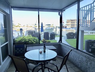 Very Comfortable,  Couples Retreat, Waterfront 1 BR/1Bath 1 Block from Beach