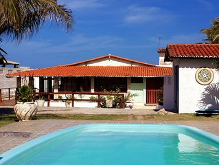 Casa com piscina na praia de Graçandu