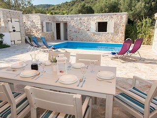 The picturesque stone holiday house with private pool