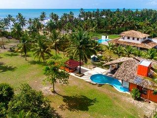 Aconhegante casa à beira mar no sul da Bahia