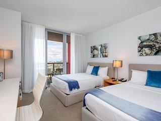 Panoramic Views in this 2 Bedroom Suite at Beachwalk Resort