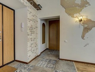 Modern one bedroom apartment with designed in the heart of St. Petersburg.
