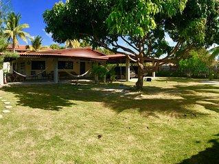 Family Beach House! Walk to Beach/Surf. Costa Esmeralda, San Carlos