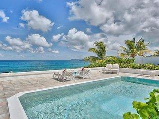 Romantic Beachfront Villa, Pool, Jacuzzi, AC, Free Wifi, Concierge Service