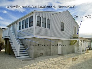 2019 NEW Lavallette, 3 Bedroom, Sleeps 8, C-A/C, Wi-Fi, Beach Badges, Parking