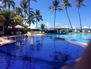 apartamento de praia, duas suites, enfrente ao mar, piscina panoramica,