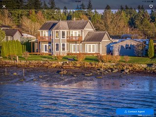 Luxury Waterfront, Home  beachfront  Sunsets  Drayton Harbour  5 Min to Canada