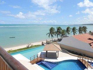 Barra Bali Flat de luxo em condominio Beira mar em Alagoas - 6 pax