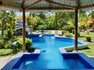 Oceanfront Beach House +Pool +AC +Private Beach Access in Costa Rica