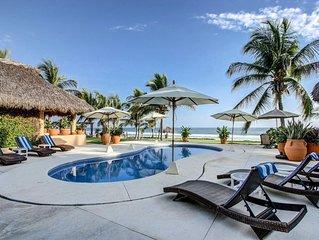 Puerto's Finest Luxury Beachfront Villa Full Service Included