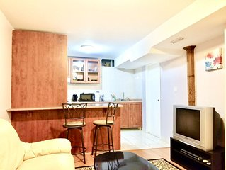 Cozy, Modern Basement with Separate Entrance