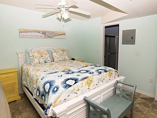 Cute 1 br/1 bath unit ocean front only strides away from famous  Cocoa Beach.