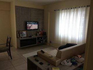 Apartamento bem confortável em condomínio de luxo.