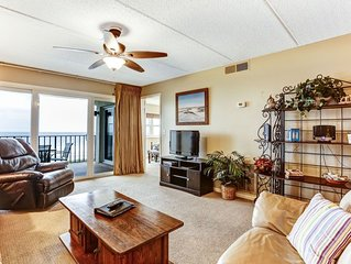 4th Floor 2 Bedroom/2 Bath Oceanfront condo sleeps 6 guests.  Oceanfront balcony