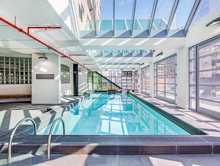 Elegant Spacious 3BR Flat in City Center with Pool & Gym