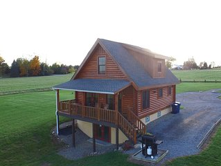 A Real Deluxe Log Home in the Finger Lakes Overlooking Seneca Lake