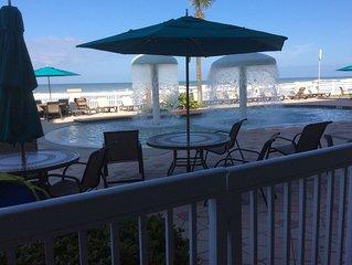 Daytona Beach Resort 1st Floor Ocean front/Indoor-Outdoor pool/Firepit