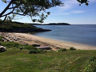 Sandy Beach, Bold Ocean View, Lighthouses, Deck and Mooring