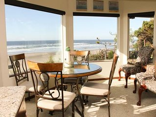 Tastefully furnished, elegant oceanfront home on a quiet residential street