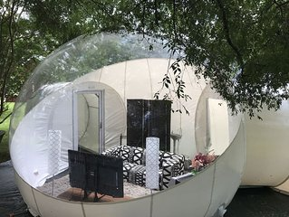 Fluffy Puffy Backyard Bubble Tent