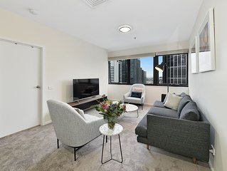 Fully furnished two bedroom apartment 1115/250 Elizabeth St