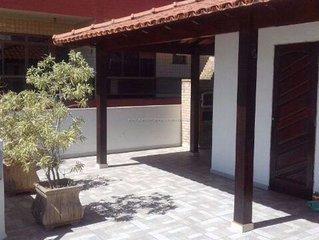 Cobertura Duplex a 100m da Praia, com WI-FI, 3 quartos, suíte, 2 Vagas,Varandões