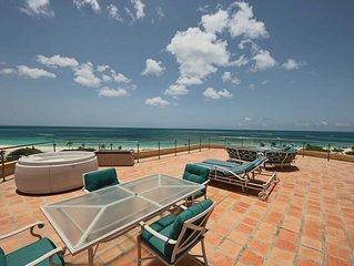 BEACHFRONT - EAGLE BEACH - OCEANIA RESORT - Ultimate Penthouse 3BR condo -BG531