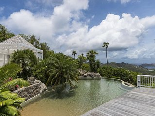Breathtaking Ocean Views, Big Heated Pool with Mini Waterfall and Jacuzzi, Gourm