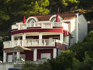Beautiful villa unique position with private beach on Adriatic sea just  for you