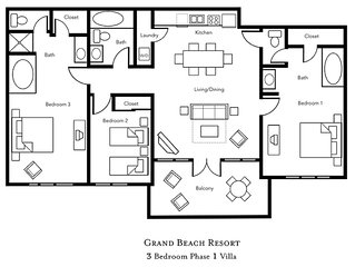3 BDRM~ GRAND BEACH RESORT~ ONSITE LAKE~ HOLIDAYS AVAILABLE NOW~ LOWERED RATES