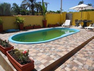 Casa na praia com piscina para 10 pessoas, terreno de 8500m2 de Mata Atlantica