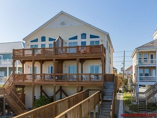 Oceanfront 5 BR 5.5 Bath Elevator Pets Welcome-Raindrops on Roses