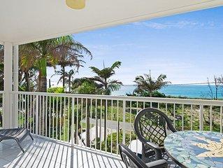 Views of Moreton Island from balcony at Beachside Haven Rickman Pde, Woorim