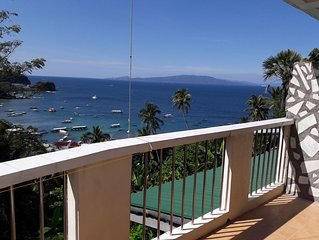 A, 2 bedroom Appartment with Balcony. Great view over Sabang Beach Bay.