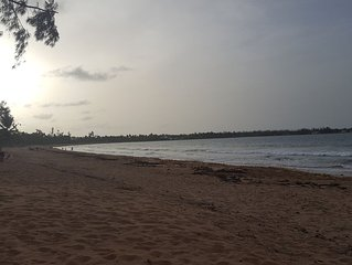 Breezy Beachfront Apartment on Private Beach