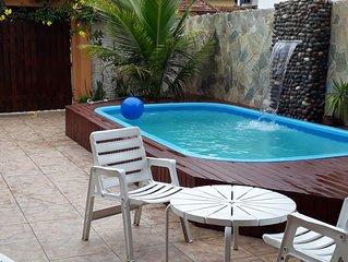casa  com piscina para a  suas ferias